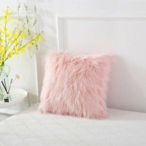 mini fuzzy decorative pillow